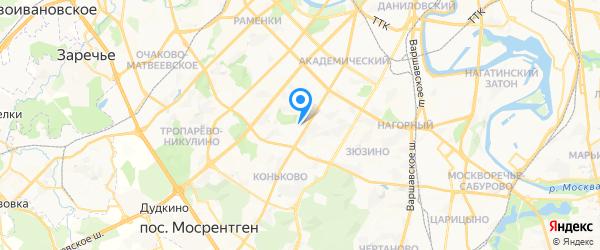 Терморос на карте Москвы