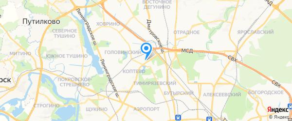 Компью-помощь на карте Москвы