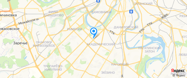Талион на карте Москвы