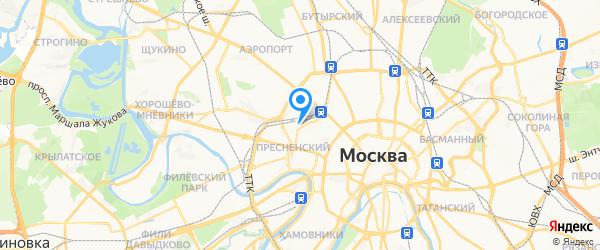 Супернова на карте Москвы