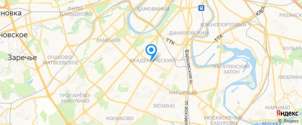 Mobrem-Добрынинская на карте Москвы