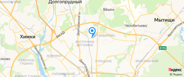 Руснит на карте Москвы