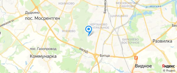 Чертаново-Быт на карте Москвы