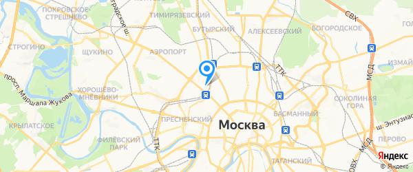 Серв на карте Москвы