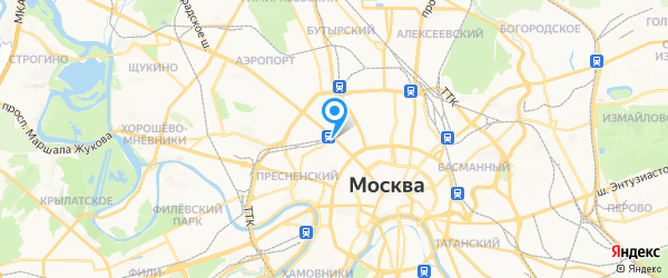 Гаджет Сервис на карте Москвы