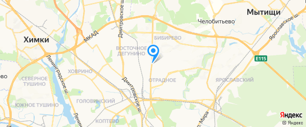 ASUnion на карте Москвы