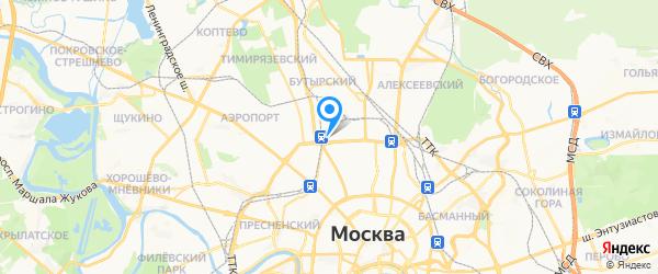 PineApple-S на карте Москвы