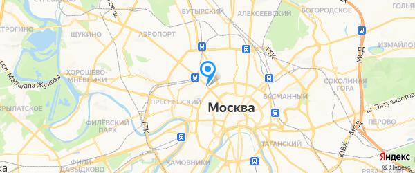 Омега на карте Москвы