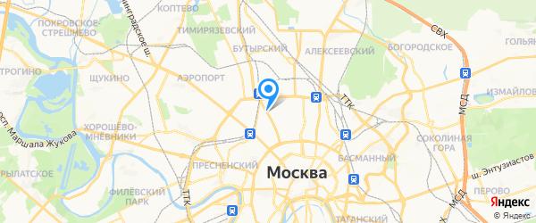Радио сервис на карте Москвы