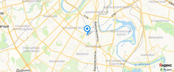 Мастерская на Нагорной на карте Москвы