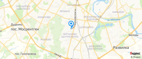 Союзоргтехника-Южная на карте Москвы