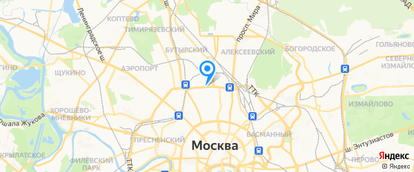 N1 на карте Москвы