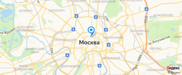 мастерская на Неглинной на карте Москвы