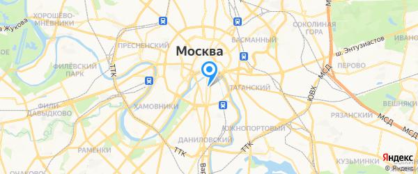 Сетемоник на карте Москвы