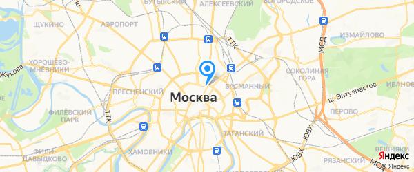 All HTC на карте Москвы
