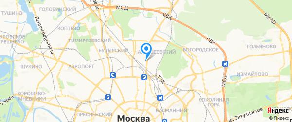 М.Видео-сервис на карте Москвы