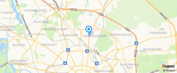 Альфа2 на карте Москвы