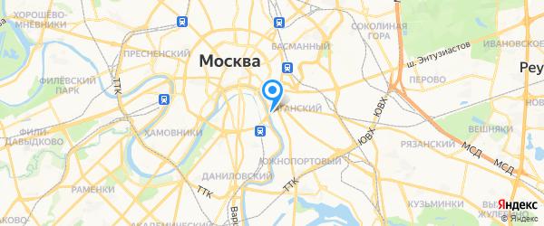 Ремонт стиральных машин на карте Москвы
