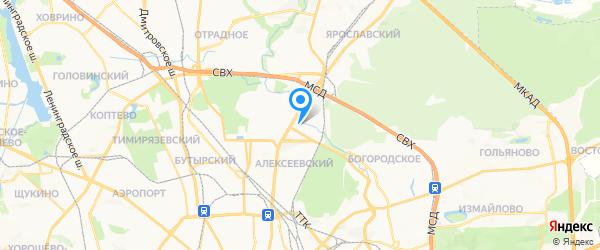 Админоф на карте Москвы