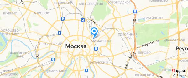 Компулог на карте Москвы