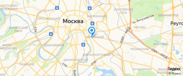 ClockService на карте Москвы