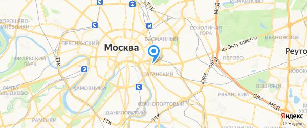 Ремонт бытовой техники на карте Москвы