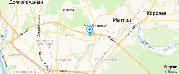 Ремонт бытовой техники в Медведково на карте Москвы