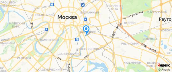АК Центр на карте Москвы