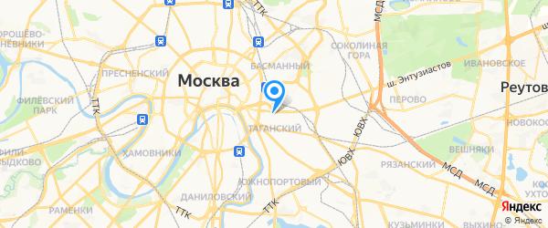 Техноком на карте Москвы