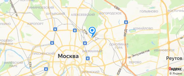 Совинсервис на карте Москвы