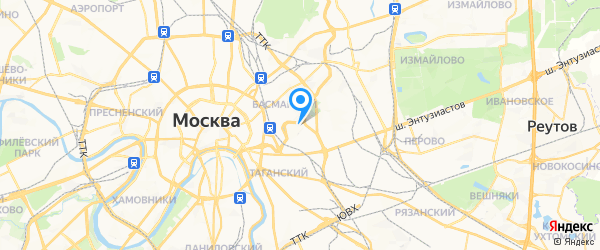 Абиус на карте Москвы