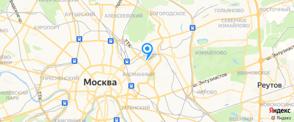 Мультисервис на карте Москвы