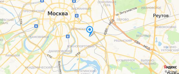 МК-сервис на карте Москвы