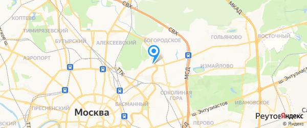 Серсо на карте Москвы