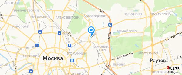 Flashservice на карте Москвы