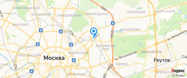 Лаборатория Ремонта на Электрозаводской на карте Москвы