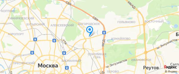 Принта на карте Москвы