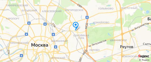ОКБ-Телеком на карте Москвы