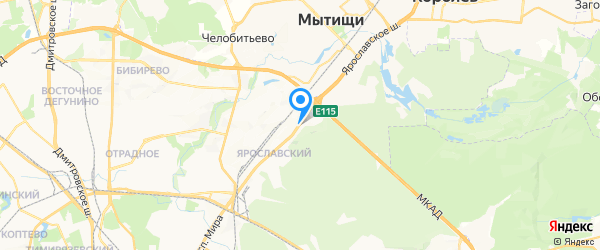 Кристалл на карте Москвы
