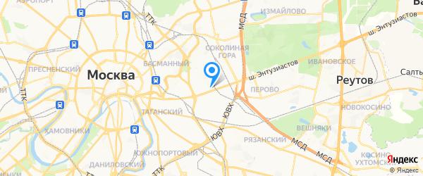 Верас на карте Москвы