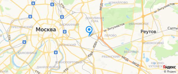 Ракета на карте Москвы