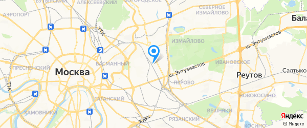 Радник на карте Москвы