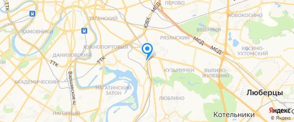 Технодид на карте Москвы