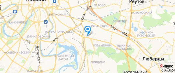 ИП Кузнецов А.А. на карте Москвы