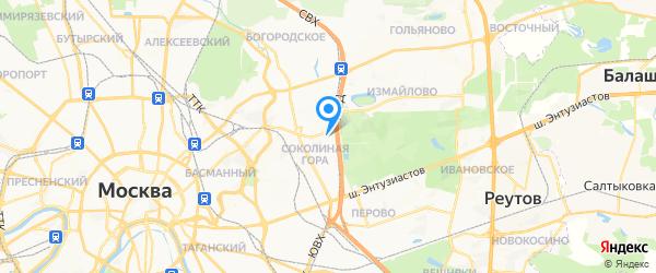 Инрост на карте Москвы