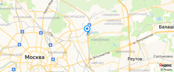 Комрет на карте Москвы