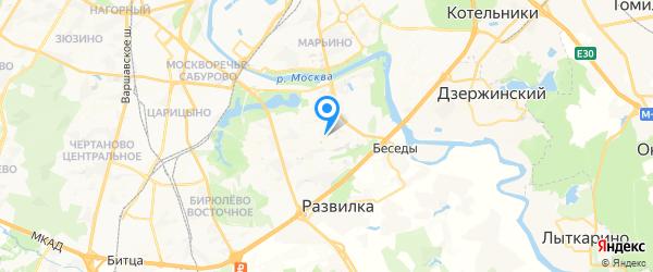 Телесервис на карте Москвы