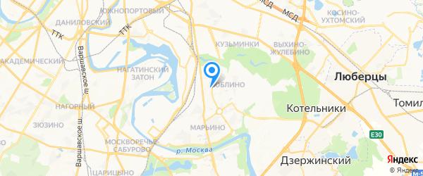 Золотые руки на карте Москвы