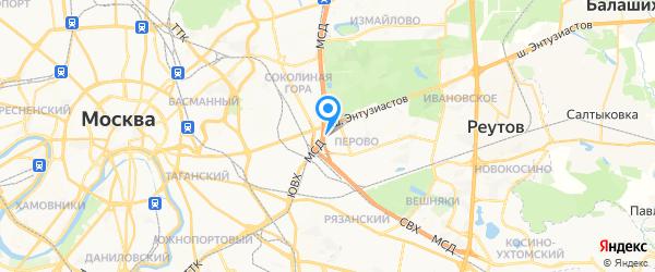 Он-сервис на карте Москвы