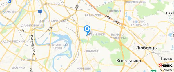 ЮНик-Мастер на карте Москвы